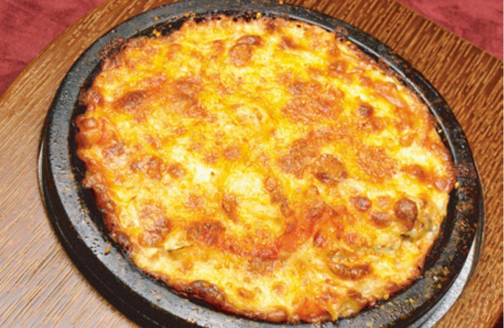 海老と浅利のチーズチヂミ
